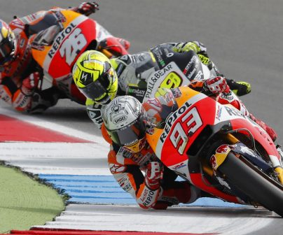 Márquez places third and Pedrosa tenth on first day at Assen