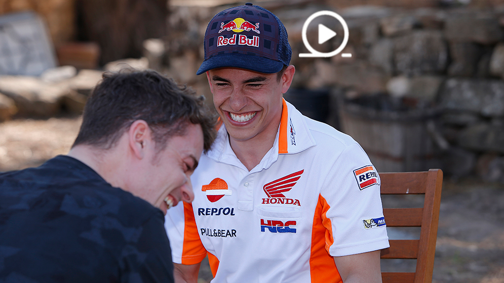Marc Márquez and Dani Pedrosa end the season with laughter