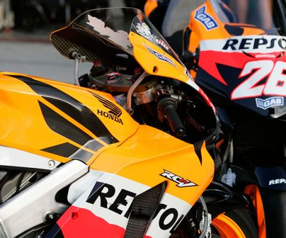 The Repsol Honda colours