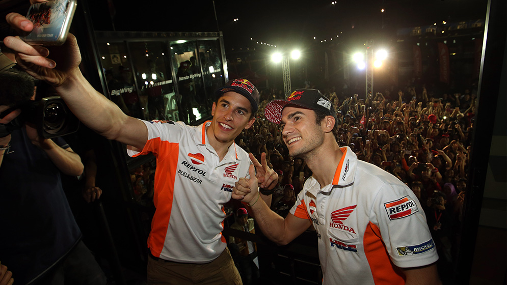 Marquez and Pedrosa top the standings on day 2 in Buriram