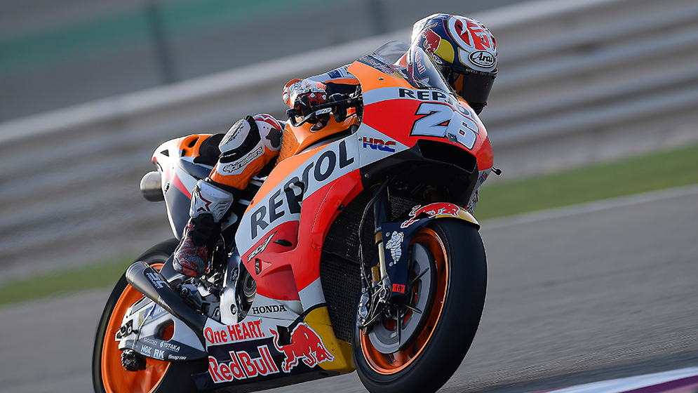 Images of Márquez and Pedrosa in the final 2018 preseason test