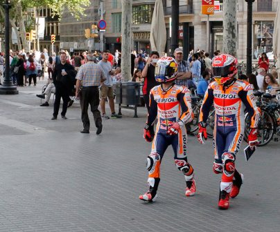 Marc Márquez and Dani Pedrosa behave like Barcelona natives