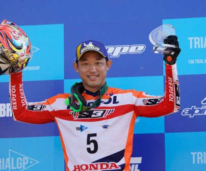 Podium positions for Fujinami and Bou at the TrialGP in Japan