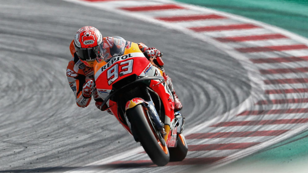 Márquez and Pedrosa put to the test in dry and wet conditions